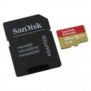 Micro SD 128Gb class 10 к/п SanDisk XC U3 A2 Extreme 160Mb/s + адаптер