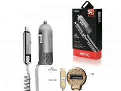 АЗУ iP+Micro+1USB Remax RC-C103 1.5m Gray