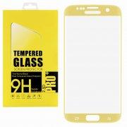 Защитное стекло Samsung Galaxy S7 Glass Pro Full Screen 3D золотое 0.33mm