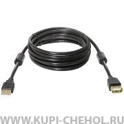 Кабель USB-USB(F) Defender USB02-10 черный 3m