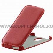 Чехол флип HTC Desire 326 Dual Sim Derbi красный