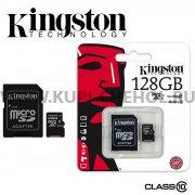 Micro SD 128Gb class 10 к/п Kingston UHS-I + адаптер