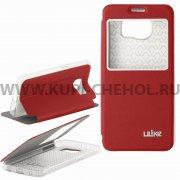Чехол книжка Samsung G920f Galaxy S6 Ulike красный 7174