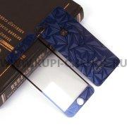 Защитное стекло Apple iPhone 7 4.7 декоративное 2в1 9440 синее