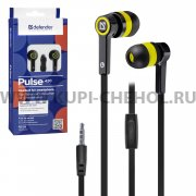 Наушники Defender Pulse 420 Black/Yellow