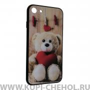 Чехол-накладка Apple iPhone 7 Мишка с сердцем