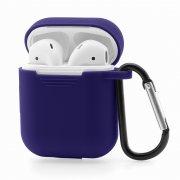 Чехол для Apple AirPods силиконовый синий