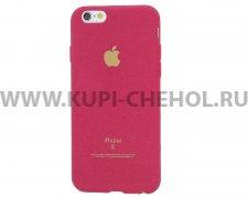 Чехол-накладка Apple iPhone 6 / 6S 4.7 розовый бархатный