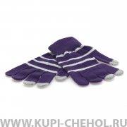 Перчатки для сенсора вид 3 фиолетовые