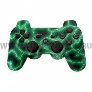 Джойстик Sony Dualshock 3 зелёная молния
