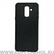 Чехол-накладка Samsung Galaxy A6 Plus (2018) A605f/J8 2018 27035 Рептилия черный
