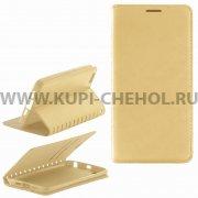 Чехол книжка Xiaomi Mi5 New Case 001 золотой