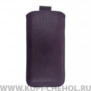 Чехол с внутренним языком Apple iPhone 5/5S Deluxe фиолетовый варан