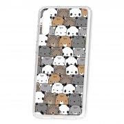 Чехол-накладка Huawei P20 Kruche Print Медвежата