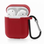 Чехол для Apple AirPods силиконовый красный