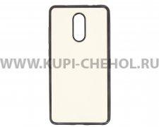 Чехол-накладка Xiaomi Redmi Pro Hallsen прозрачный с черными краями без логотипа