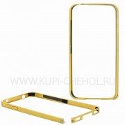 Бампер  металл  0.7mm  Samsung  G900  7423  золот
