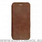 Чехол книжка Samsung Galaxy A50 2019 Mira коричневый