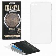 Защитное стекло + чехол Apple iPhone 7 Remax Crystal Glass Full White