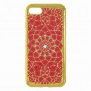 Чехол-накладка Apple iPhone 7 9203 со стразами красный
