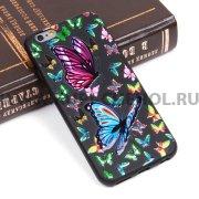 Чехол-накладка Apple iPhone 6/6S Цветы 10073