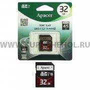SD 32Gb class 10 к/п Apacer UHS-I