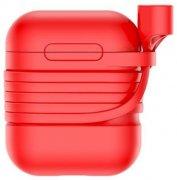 Чехол для Apple AirPods+держатель Baseus Case Tzargs-09 Red