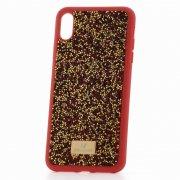 Чехол-накладка Apple iPhone XS Max Swarovski Кристаллы Red/Gold