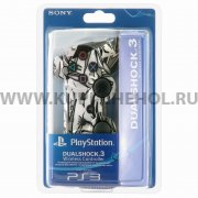 Джойстик Sony Dualshock 3 графити бело - серый