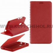 Чехол книжка Xiaomi Redmi Note 3 Book Case New красный