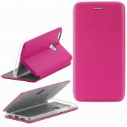 Чехол книжка Huawei P9 Lite Fashion Case с визитницей розовый