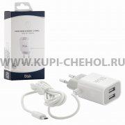 СЗУ Micro-USB 2.1A 2USB Ubik UHS22M белое