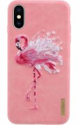 Чехол-накладка Apple iPhone X Nimmy Flamingo Pink