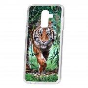 Чехол-накладка Samsung Galaxy A6 Plus (2018) A605f/J8 2018 Kruche Print Крадущийся тигр