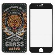 Защитное стекло Apple iPhone 7 Proda Four Beasts 3D Full с силиконовой рамкой Black