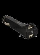 Автомобильный адаптер на 2 USB 2,5A Ginzzu чёрный GA-4212UB