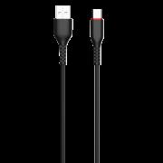 Кабель USB-Type-C Jellico Black 1.2m 3.1A УЦЕНЕН