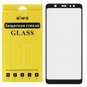 Защитное стекло Samsung Galaxy A6 Plus (2018) A605f Aiwo Full Screen черное 0.33mm