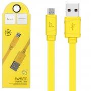 Кабель USB-Micro Hoco X5 Bamboo Yellow 1m