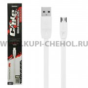 USB - micro USB кабель Remax RC-001m White 1м