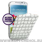 Чехол флип Samsung Galaxy S4 i9500 TETDED белый крокодил