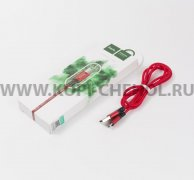 USB - micro USB кабель HOCO X14 Red/Black 1м