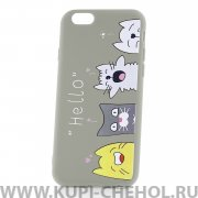 Чехол-накладка Apple iPhone 6/6S 33003 Hello Grey