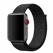 Ремешок для Apple Watch 38mm тканевый на липучке чёрный