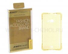 Чехол силиконовый Microsoft 535 Lumia Fashion Case Крапинка золотой