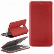 Чехол книжка Xiaomi Redmi Note 4X Fashion Case с визитницей красный