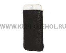 Чехол с внутренним языком Apple iPhone 5/5S Luxe чёрный