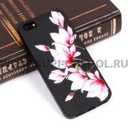 Чехол-накладка Apple iPhone 5/5S Цветы 10075