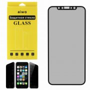 Защитное стекло Apple iPhone X Aiwo Антишпион черное 0.33mm