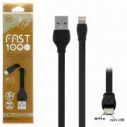 Кабель Multi USB-iP+Micro WK WDC-023 Black 1m